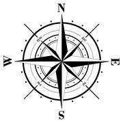 Compass Rose - stock illustration