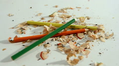 Pencil and Shavings Stock Footage