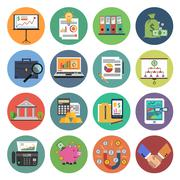 Stock Illustration of Finance Icon Flat
