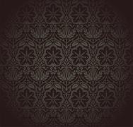 Stock Illustration of Damask Wallpaper Pattern