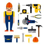 DIY home repairs power - stock illustration