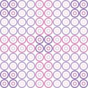 Vector wallpaper seamless circle pattern Stock Illustration