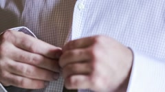 Man Dressing Up Stock Footage