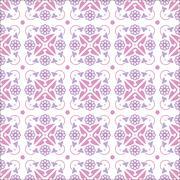 vector wallpaper seamless flower pattern - stock illustration
