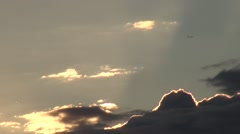 Russia Saint-Petersburg 2015 Sunset at Neva river zoom out from clouds and rope Stock Footage