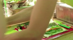 Raw food festival Stock Footage