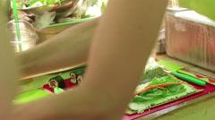 Raw food festival Stock Footage