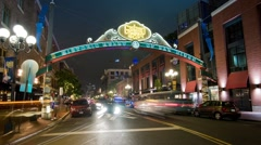 San Diego Gaslamp Quarter Stock Footage
