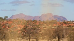 Kata Tjuta The Olgas Australian Landmark Outback Red Desert Landscape Stock Footage