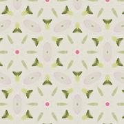 Joyful Sunny spring bright cheerful pattern - stock illustration