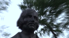 Russia Saint-Petersburg 2015 Admiralty and Gogol statue Stock Footage