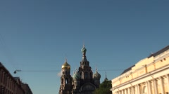 Russia Saint-Petersburg 2015 Church of the Savior on Blood zoom in Stock Footage