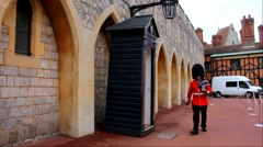 Windsor Castle - The Queen's Guard is the contingents of infantry and cavalry Stock Footage