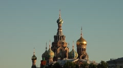 Russia Saint-Petersburg 2015 Savior on Spilled Blood zoom in Stock Footage