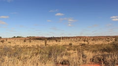 Outback Australia Landscape Red Desert Sand and Dry Arid Grasslands - stock footage