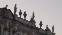 Russia Saint-Petersburg 2015 The Hermitage Roof 1 Stock Footage