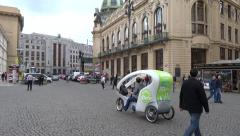 Regular summer day at the Republic Square (Náměstí Republiky) Stock Footage