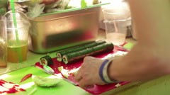 Raw food festival - stock footage