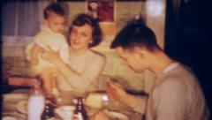2248 - young family visits grandmas house - vintage film home movie Stock Footage