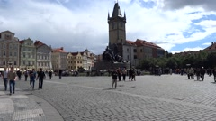 Old Town Square in Prague, Summer 2015 Stock Footage