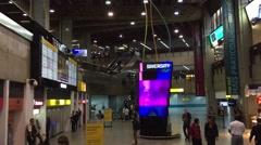 Gru Airport lounge in Sao Paulo, Brazil. Stock Footage
