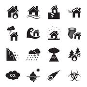 Disaster icon Stock Illustration