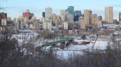 Edmonton Skyline Stock Footage