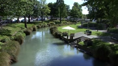 Stock Video Footage of River stream in Christchurch