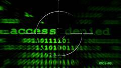 Access denied radar Stock Footage