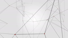 Geometrical abstraction on white background Stock Footage