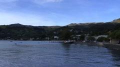 New Zealand Akaroa Harbour Stock Footage