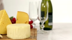 Cheese dinner Stock Footage