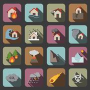 disaster icon - stock illustration