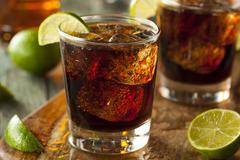 Rum and Cola Cuba Libre - stock photo