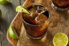 Rum and Cola Cuba Libre Stock Photos