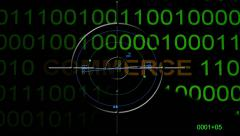 e-commerce text on radar - stock footage