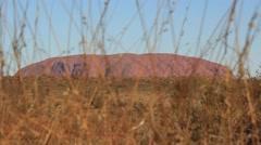 Uluru, Ayers Rock Outback Australian Landmark Red Desert Landscape Stock Footage