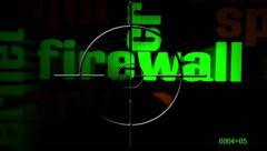 Stock Video Footage of Firewall text on radar