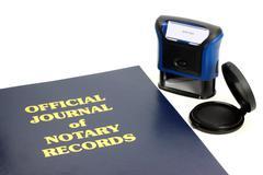 Notary Journal Stock Photos