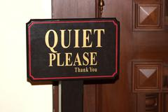 Quiet Please Stock Photos