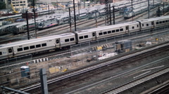 NYC Train Yard Slow Motion - stock footage