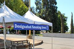 Designated smoking area - stock photo
