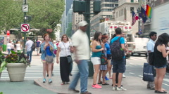 NYC Time Lapses 4K Street Crowd 34th street. - stock footage