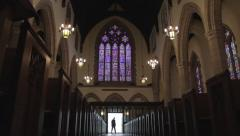 Catholicism | Epic Reveal of grand Catholic Church Stock Footage