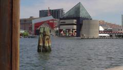 Stock Video Footage of Baltimore Inner Harbor | National Aquarium | Slider Reveal