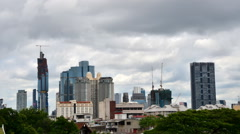 Bangkok Skyline with Building Under Construction - stock footage