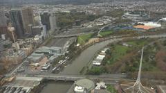 Melbourne CBD elevated timelapse Stock Footage