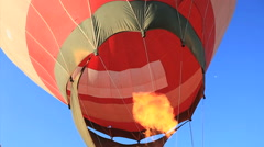 Hot Air Balloons Inflates in Sao Paulo, Brazil.  Stock Footage