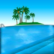 Pool Background - stock illustration