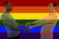Gay Rights Rainbow Iconic Image Style Stock Photos